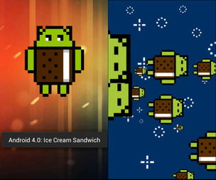 Easter egg do Android 4.0 Ice Cream Sandwich(Foto: Repodução/Gizmodo)