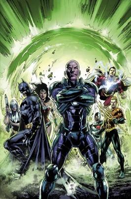 """DC Entertainment/Associated Press - Esta comic image lançado pela DC Entertainment mostra a arte da capa de """"Justice League""""."""