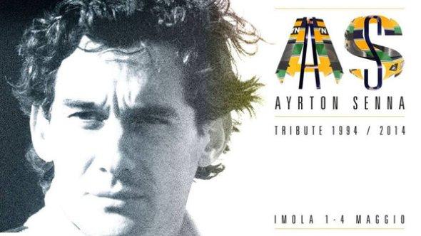 O cartaz das homenagens a Ayrton Senna na Itália (Reprodução)