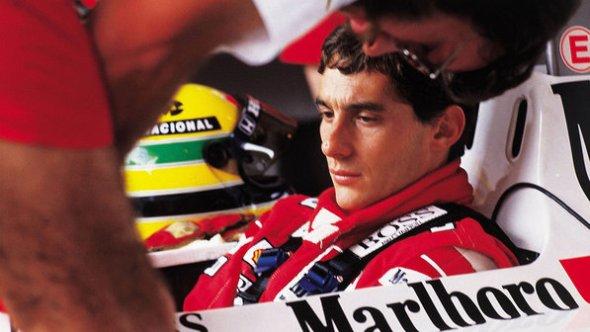 Ayrton Senna durante GP Brasil de 1989 em Jacarepaguá - Silvio Porto