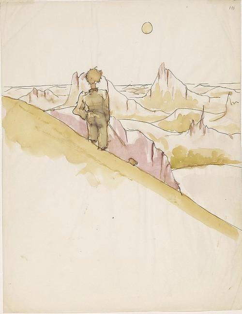 """Ilustração original de """"O Pequeno Príncipe"""" (Foto: Reprodução)"""