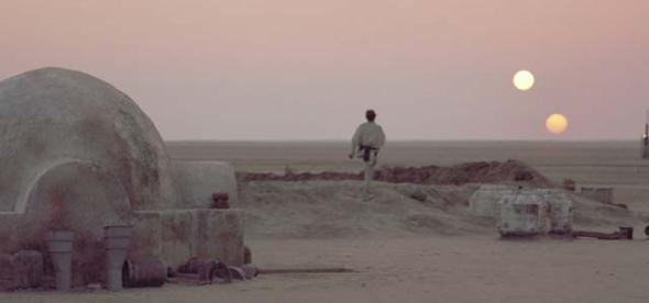 Luke Skywalker em Tatoonie