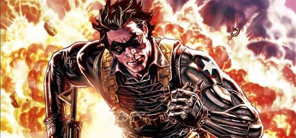 O Soldado Invernal - e seu braço biônico - dos quadrinhos