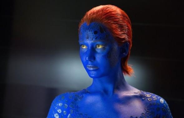 A mutante Mística, interpretada por Jennifer Lawrence. Um assassinato cometido por ela pode destruir o futuro dos X-Men (Foto: Divulgação/ Fox)