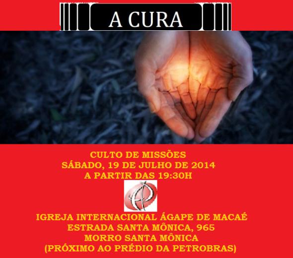 Culto de missões julho 2014