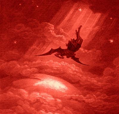 Resultado de imagem para Eu via Satanás, como raio, cair do céu