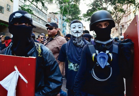 Flagrantes de manifestações do Movimento Passe Livre